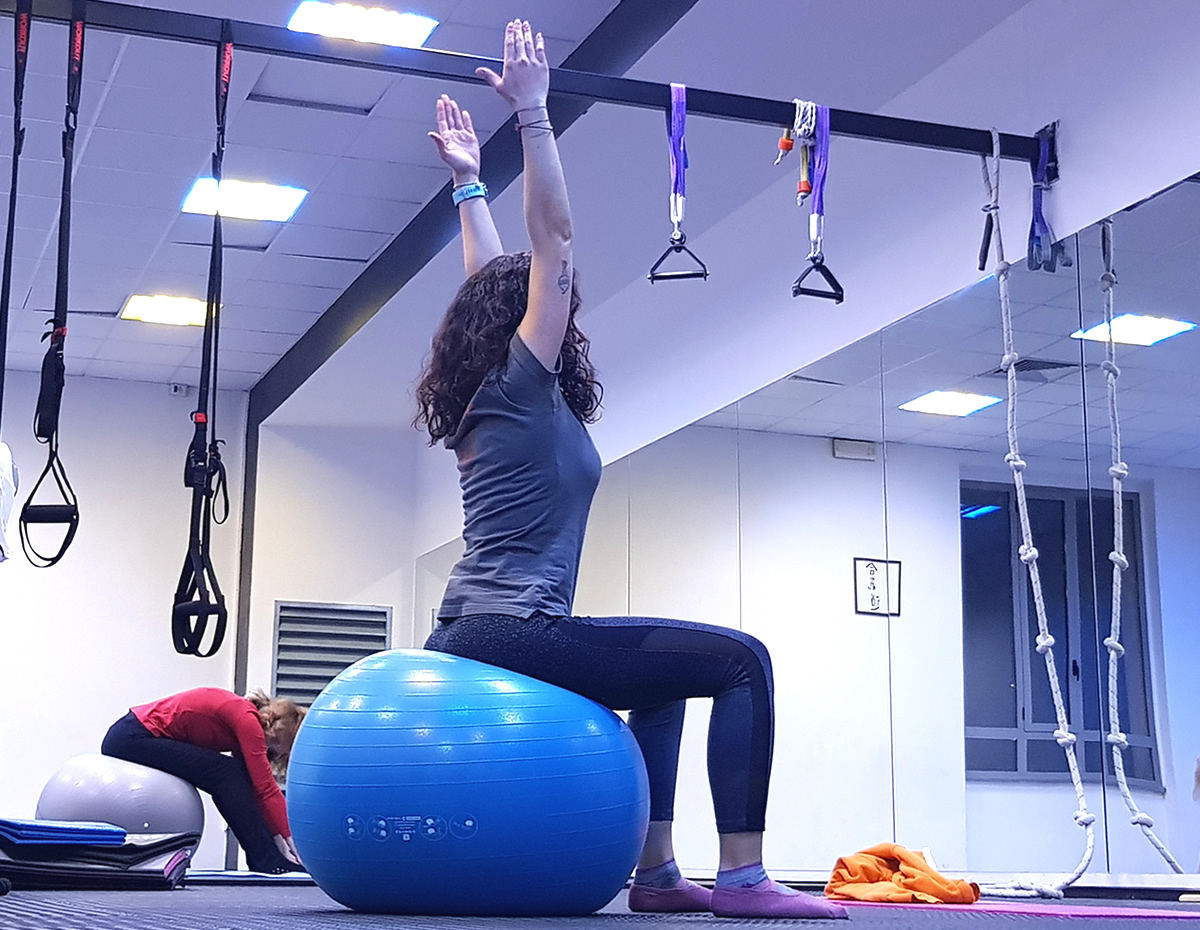 Esercizi e corso di pilates in plaestra