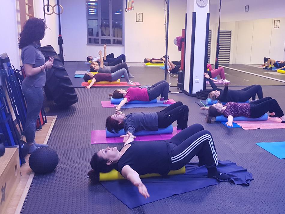Lezione di gruppo Pilates - Palestra Gi Point