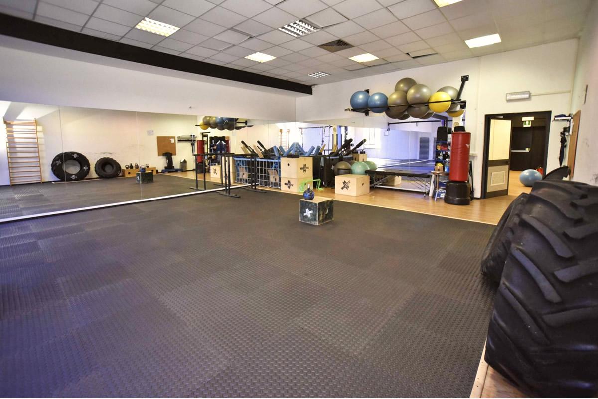 Sala Tatami dedicata ai corsi di Pancafit, Ginnastica Posturale, Military Fitness
