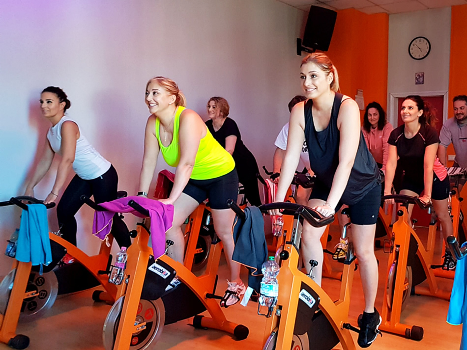 Lezione di gruppo Spinning - Palestra Gi Point